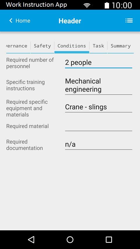 Work Instruction App | Safe time | Improve results